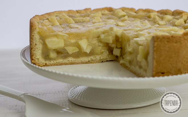 ciasto z nadzieniem budyniowym z jabłkami i cydrem