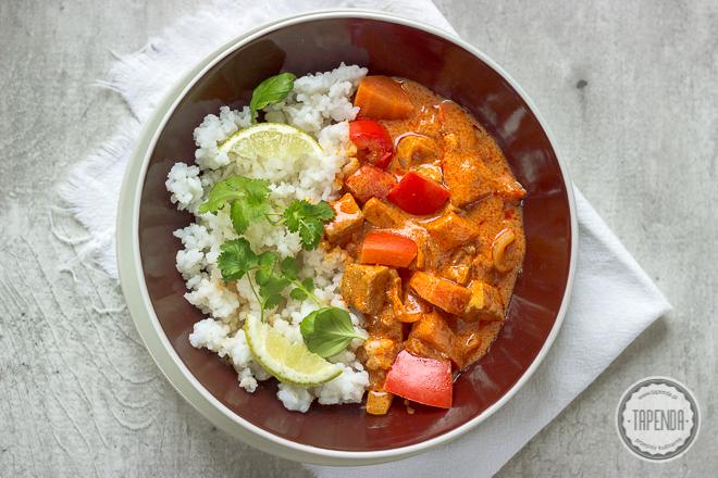 Czerwone curry z tofu