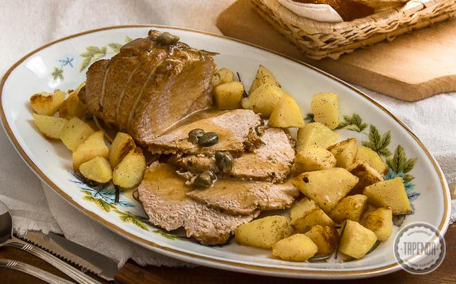 Duszony schab ze smażonymi ziemniakami