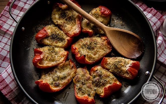 Pieczona papryka z serem mozarella