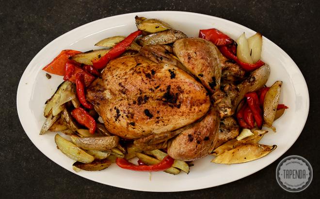 Pieczony kurczak z warzywami