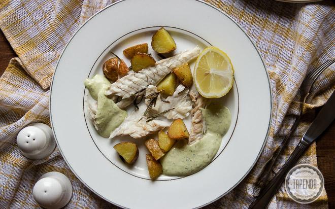 Ryba z grilla z sosem aioli