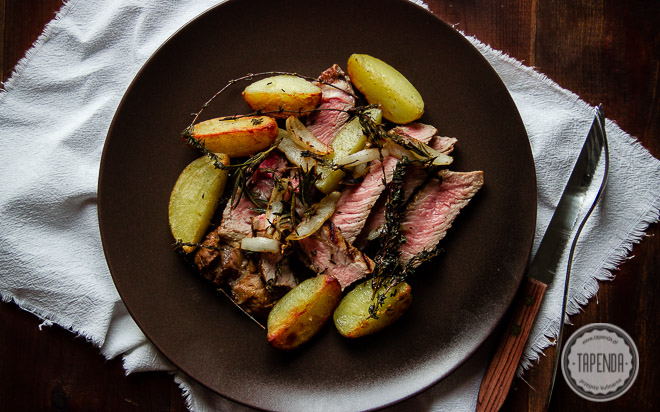 Stek z grilla w postaci tagliaty