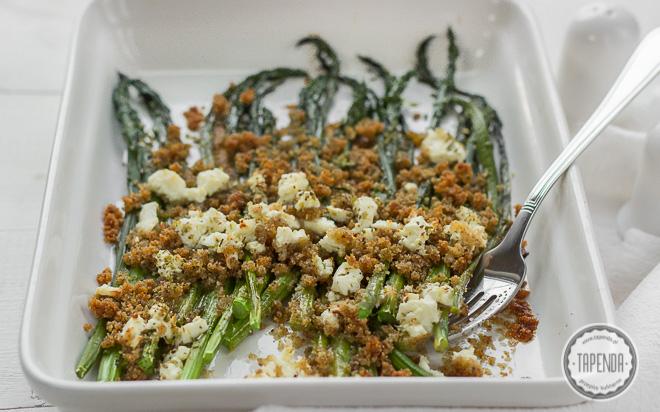 Zapiekane szparagi z serem feta