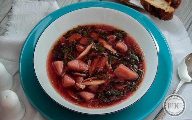 Zupa z botwiny z kurczakiem